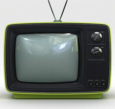 Green Television Set