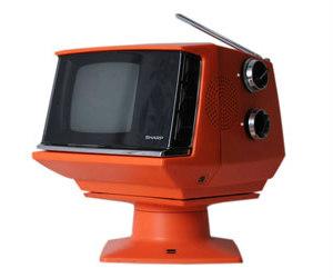 orange sharp tv set